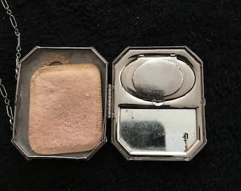 Collectable compact, gullioche compact, pill box