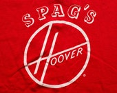 SPAG'S Hoover Logo T-Shirt, Vacuum Cleaner Company, Vintage 80s