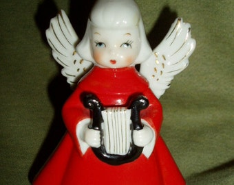 Vintage 60s Girl Angel Old Japan Ceramic Retro Decoration