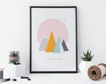 Adventurers - Mountain Poster Print