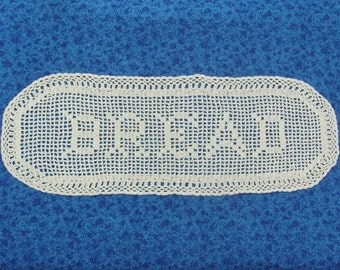 Vintage Hand Crochet Bread Doily Table Runner Accent