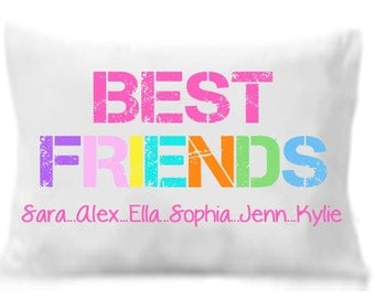 Best Friends Pillow Case , Personalized Pillowcase,  Best Friends Gift