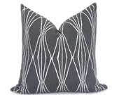 Mid Century Modern Pillow Cover - Charcoal Pillow - Decorative Pillow - Modern Pillow - Geometric Pillow - Gray Pillow - Designer Pillow