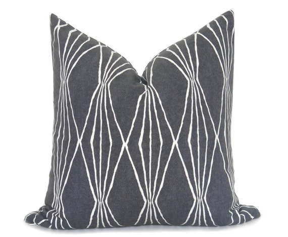 Mid Century Modern Pillow Covers : Mid Century Modern Pillow Cover Charcoal Pillow Decorative
