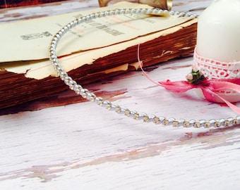 STEFANA Wedding Crowns - Orthodox Stefana - Bridal Crowns STRASSA silver- One Pair