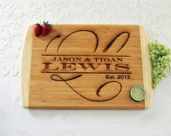 Family Name Cutting Board, Personalized Engraved Cutting Board, Great Gift Idea, Personalized Wedding Cutting Board