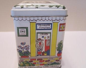 Railway Station Tea Caddy for Wade of England - Vintage Tea Tin - Collectible Tea Tin - Tea Storage Tin
