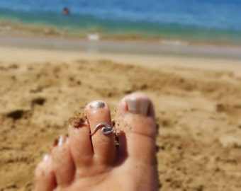 Wave Ring Toe Ring Made on Maui