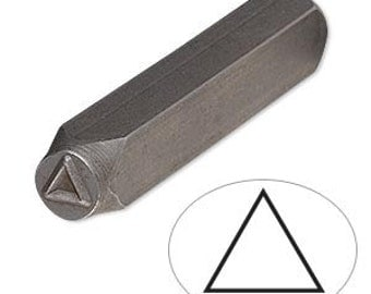 Steel Stamp Punch for Beading & Jewelry Making (Triangle)