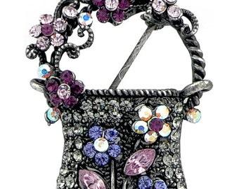 Amethyst Lady Handbag Pin Brooch 1000271