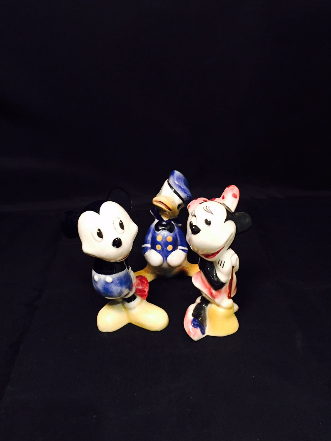 Vintage Disney Shaw Ceramics Mickey Minnie And Donald Duck As