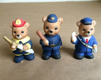 Vintage Set of Bears