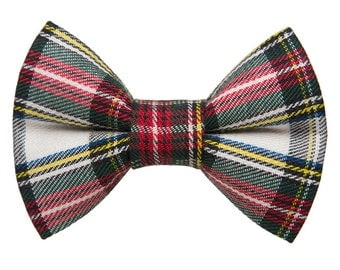 """Cat Bow Tie - """"The Let's Be Jolly"""" - Holiday Plaid"""