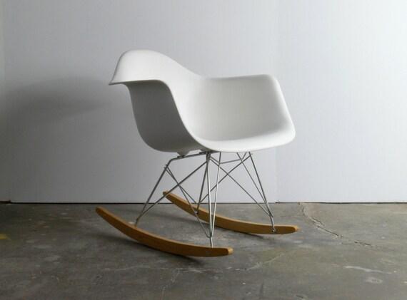 listing eames for herman miller molded plastic rocking chair rar