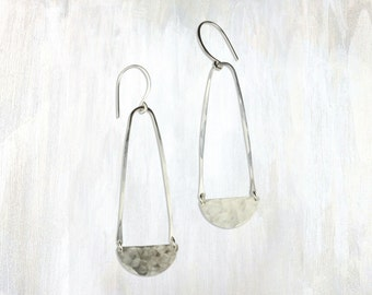 Hammered Drop Earrings, Luna Earrings