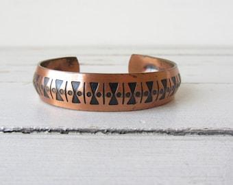 Vintage Pure Copper Cuff Bracelet