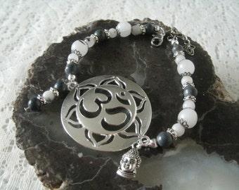 Boho Om Bracelet, buddhist jewelry boho jewelry bohemian jewelry hippie jewelry new age hipster yoga zen buddhism bracelet bohemian bracelet