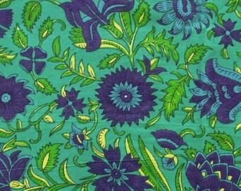 indian cotton fabric - floral print fabric - 1 yard - ctnp342