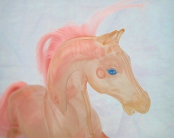 Vintage Crystal Swift Wing Clear Pastic Pink Pony She Ra Princess of Power Horse