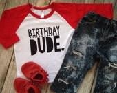Birthday dude kids birthday shirt boy birthday shirt hipster kids birthday raglan boys birthday shirt first birthday 2nd birthday shirt