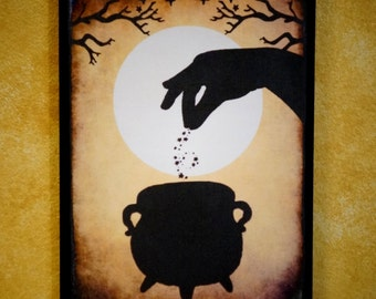 Witches Brew Wall Plaque