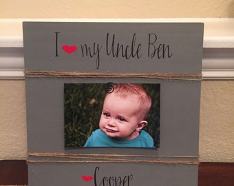 uncle gift frame gift for brother i love my uncle brother gigi grandma grandparents we love you rustic picture frame grandma aunt auntie