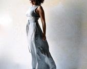 Alternative Wedding dress, Reception dress, Silver grey wedding dress, Simple wedding dress, Mermaid wedding dress, satin wedding dress
