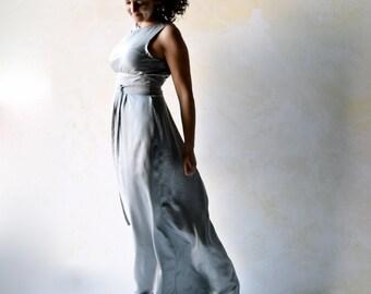 Silver Wedding dress, Reception dress, Alternative wedding dress, Simple wedding dress, Mermaid wedding dress, Sheath wedding dress