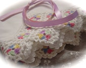 Stunning Vintage Set of Cotton Pillowcases with Crocheted Edging