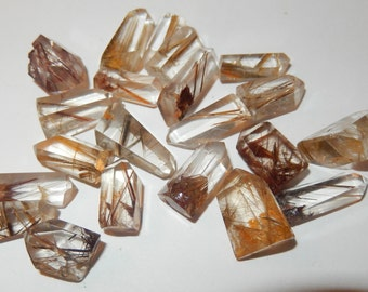 Small Rutilated Quartz stand up point