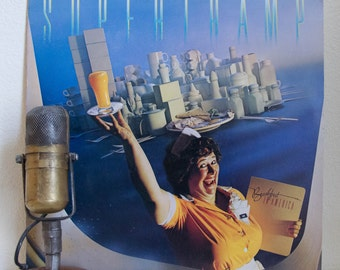 """ON SALE Supertramp Vinyl Record Album Lp 1970s British Classic Rock  """"Breakfast In America"""" (1979 A&M w/""""The Logical Song"""",""""Goodbye Stranger"""