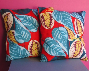 2 x Tropical Floral Cushions