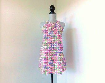 vintage 1960's psychedelic halter top |  never worn with tags | womens size s