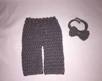 Newborn Boy Diaper Cover Set -Crochet Outfit Boy - Baby Boy Bowtie Set - Infant Boy Outfit - Photo Outfits - Crochet Newborn Photo Props