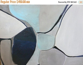 ON SALE Abstract Zen-Modern Minimal Art for Home- Original Painting-40x30x1 Large Painting