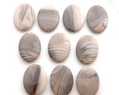 Polish Flint smooth oval 40x30mm - pick your bead