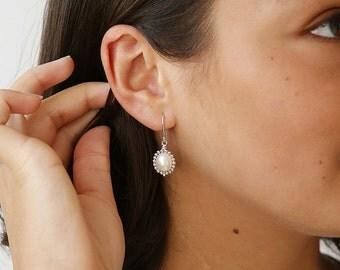 Beaded Freshwater Pearl Earring