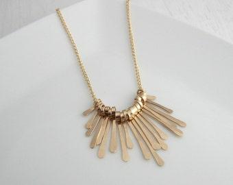 Hammered Fringe Necklace