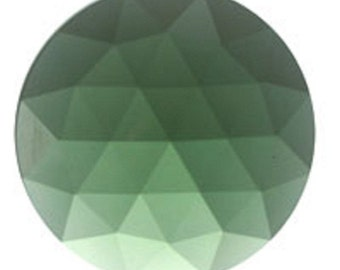 Sea Green 35mm Faceted Flat Back Glass Jewel for Stained Glass and Lead Projects