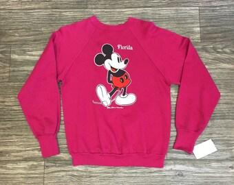Vtg Mickey Mouse 80's Souvenir Disney Sweater