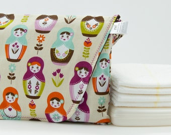 Little Matroyshka Dolls Diaper Clutch