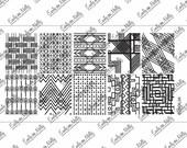 Nail stamping plate - EDMXL04