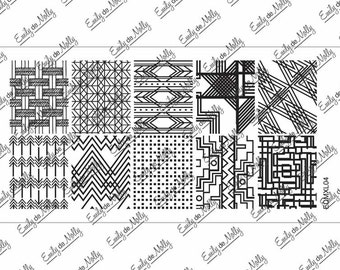 Nail stamping plate - EDMXL04