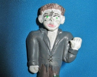 Vintage Frankly, my Dear I don't give a Damn Frankenstein Figural  Brooch