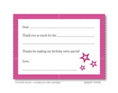 American Girl Inspired PRINTABLE Fill-in-the-Blank Thank You Note