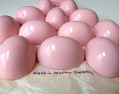 3 Vintage High Dome Pink Acrylic Cabochons - Large Oval Cabs - 39mm x 29mm - West German
