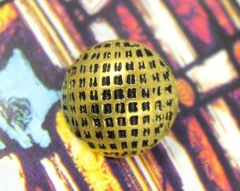 Metal Buttons - Lattice Metal Buttons , Antique Gold Color , Domed , Shank , 0.71 inch , 10 pcs
