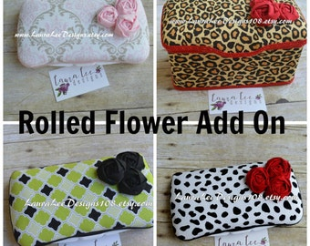 ADD ROLLED FLOWERS to a Wipe Case Travel or Nursery Size