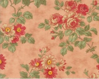 Courtyard - Rose large floral - Quilting Fabric by Three Sisters from Moda