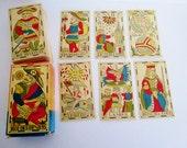 RARE Vintage 1983 Flemish Tarot Cards REPRODUCTION of Vandenborre Bacchus 1780 Complete Deck  of 78 SET Original Booklet Belgium